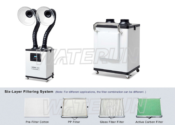 China Acrylic Cover Nail Salon Fume Extractor , Portable Smoke Extractor Six Layer Filtering Syestem supplier