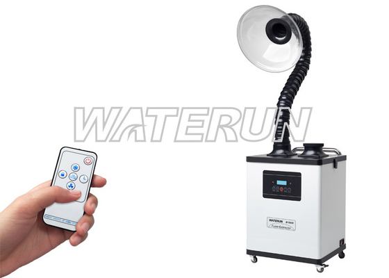 China Adjustable Digital Hair Salon Fume Extractor System Air Purifying With Handrail supplier