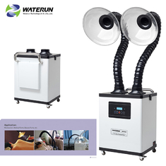 China White Digital Display Two Tubes 110v Fume Extractor For Medical Fume And Beauty Fume supplier