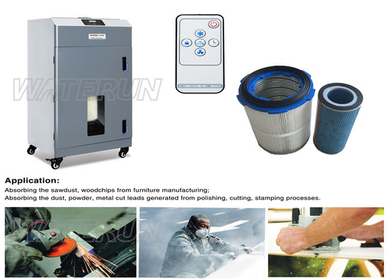 China Industry Air Purifying Portable Fume Extractor , Active Carbon Cartridge Dust Fume Extraction distributor