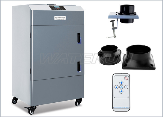China Grey Movable Soldering Fume Extractor For Laser Engraver And Cutter factory