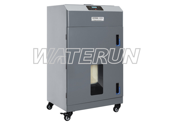 China 350W Industrial portable fume extractor for Absorbing Dust with Digital Display factory